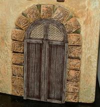 Manualidades - Puertas para las casas de los belenes